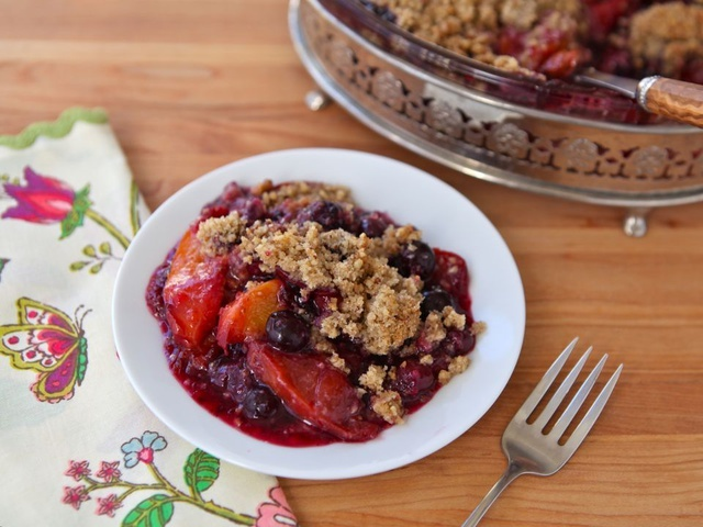 Peach and Blueberry Crisp - Seasonal Dessert Recipe