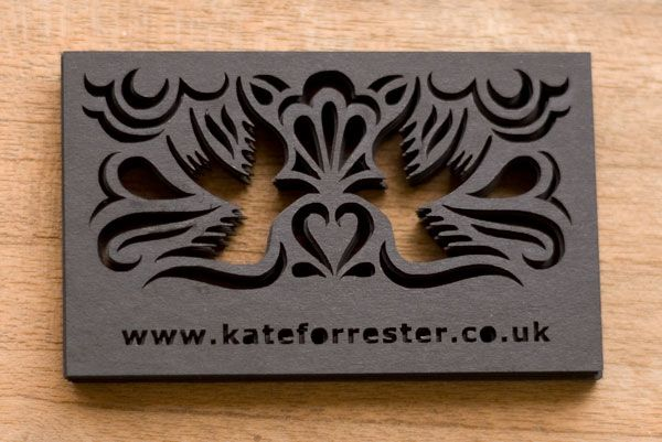 Laser cut business cards 2D Design