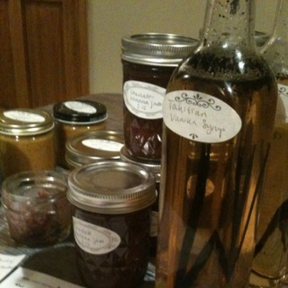 ... jam, plus two kinds of mustard- blueberry port and sweet beet pickle