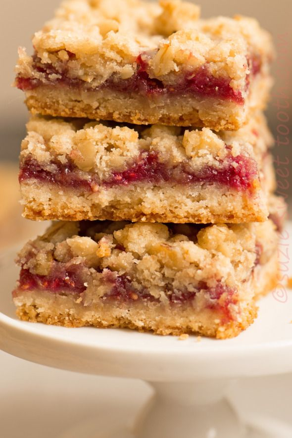 raspberry streusel bars | Food | Pinterest