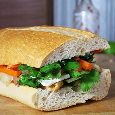 snacks: Vietnamese chicken banh mi sandwich pickledplum.com food ...