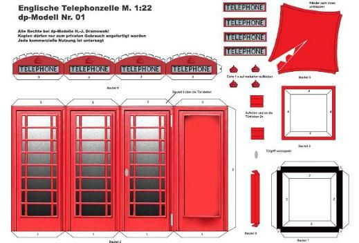 Make your own phone box. | Paper Crazy | Pinterest