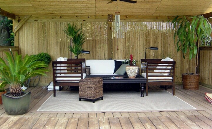 Bamboo for deck privacy. Deck Decor Pinterest