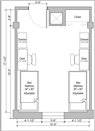 Uga Dorm Floor Plan My Future Dorm Room Pinterest