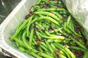 Green beans with crispy shallots | Al Dente: On The Side | Pinterest