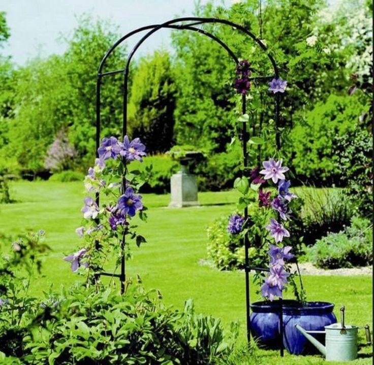 Flower Garden Gazebo : ... Arch Arbor Metal Patio Flower Garden Gazebo Trellis Yard Weddin