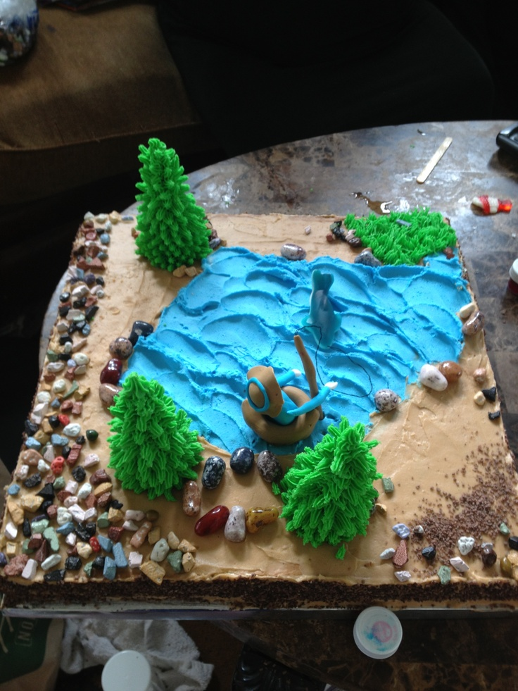 Fishing cake cake ideas pinterest for Fishing cake ideas