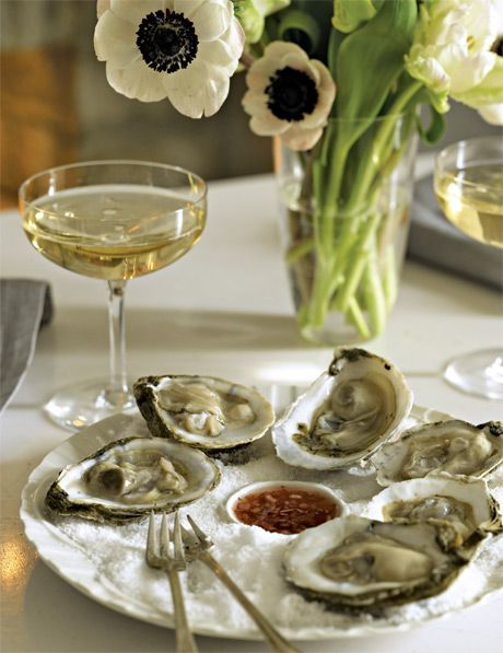 oysters with mignonette sauce | food : seafood | Pinterest