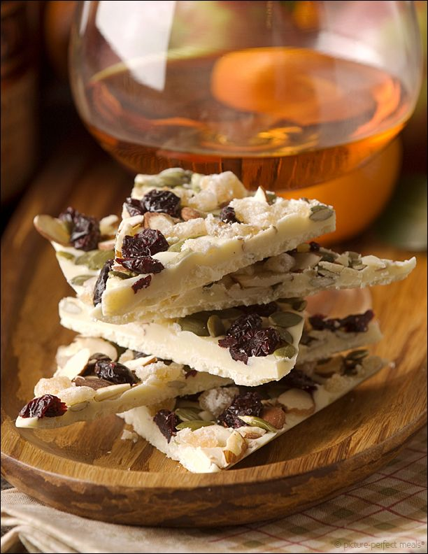 White Chocolate Bark with Dried Fruit, Nuts and Candied Ginger ...