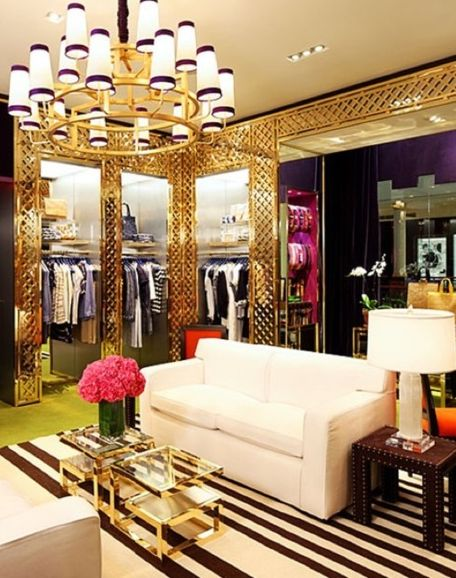Glam closet closets dressing rooms pinterest for Boutique room design