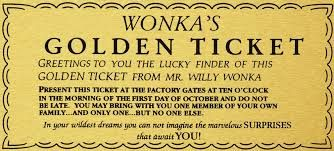 golden ticket - Google Search