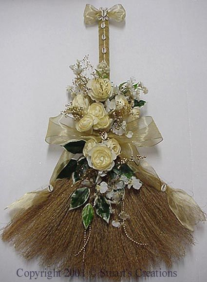 gold broom jumping the broom with this 36 broom handle wrapped with