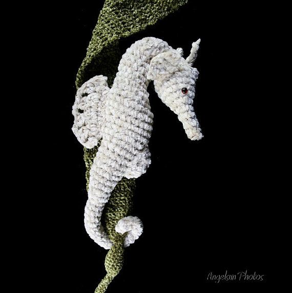 Crochet Amigurumi Seahorse Free Pattern : Shy the Seahorse Crochet PDF Pattern Amigurumi