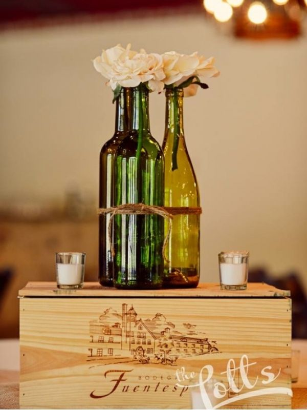 Wine bottles would make a great wedding decoration at theliberty in