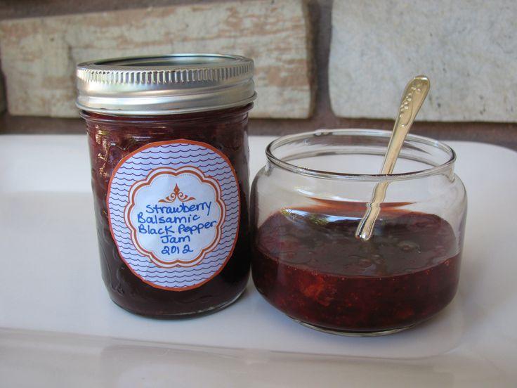 Strawberry Balsamic Black Pepper Jam | A Sweet Baker