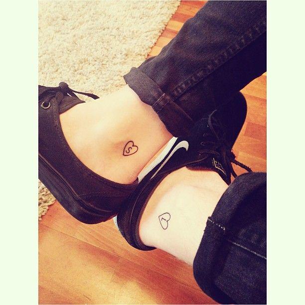 Cute boyfriend and girlfriend tattoos for Bf gf matching tattoos
