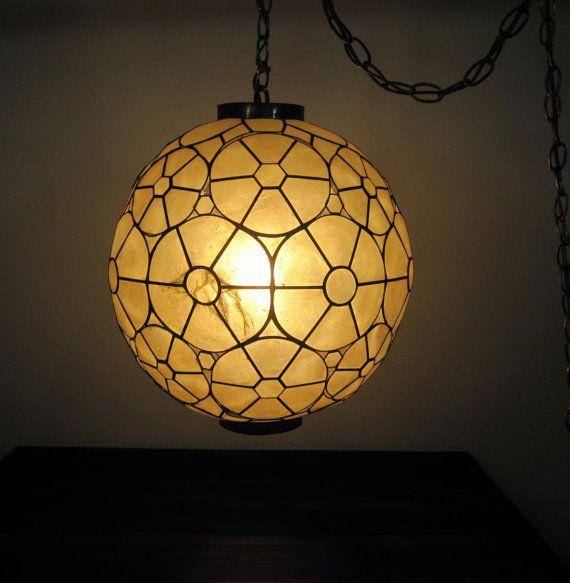 nice vintage 1960s globe hanging light fixture retro swag by. Black Bedroom Furniture Sets. Home Design Ideas