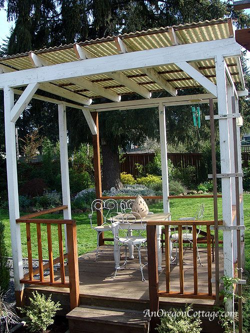 Backyard Gazebo Pictures : Backyard Gazebo Progress  Outdoor  Pinterest