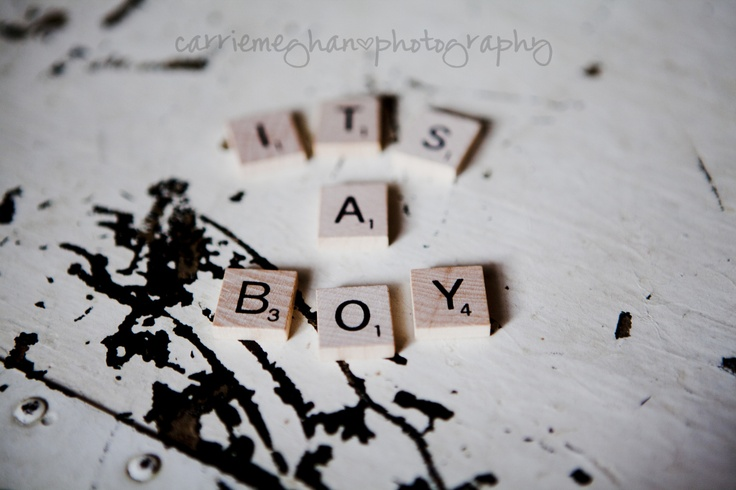This Pinterest Life Gender Reveal Baby Announcement – Scrabble Baby Announcement