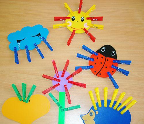 Игры с прищепками для детей, шаблоны и картинки для игр с прищепками, дидактические игры с прищепками для детей 1,2,3 года, разв