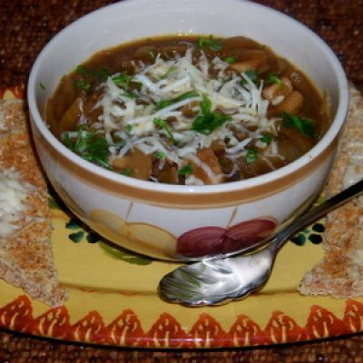 Caramelized Onion and Mushroom Soup | Soups and Salads | Pinterest