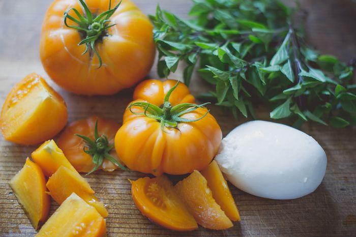 Simple. Delicious. Tomato Salad Recipe wth Burrata Cheese from ...