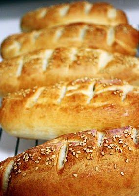 Homemade Sub/Hoagie/Sandwich Rolls | bread recipes to try | Pinterest
