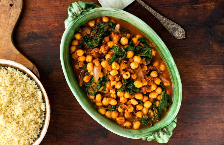 Couscous With Chickpeas, Spinach and Mint: View this and hundreds of ...