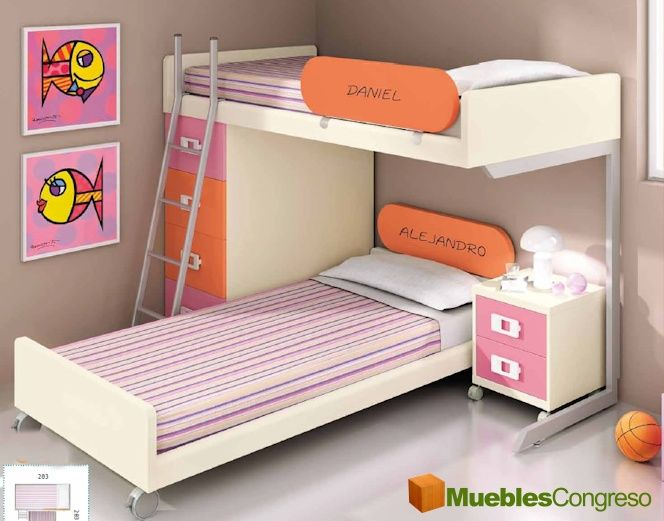Litera juvenil decoracion pinterest for Camas para habitaciones juveniles
