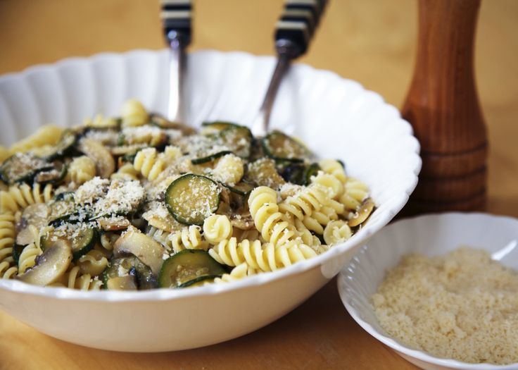Fusilli with courgettes and mushrooms - So simple and full of flavour