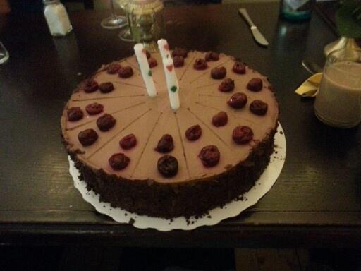 My vegan birthday chocolate cherry cake | Pink Vegan Brina | Pinterest