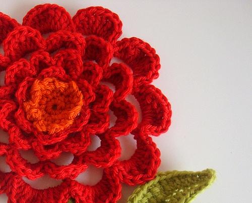 Dahlia - Pretty Potholder #crochet #potholder #flower