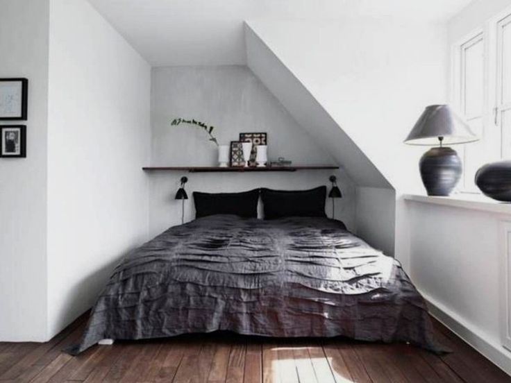 grey and white decorating small bedroom ideas