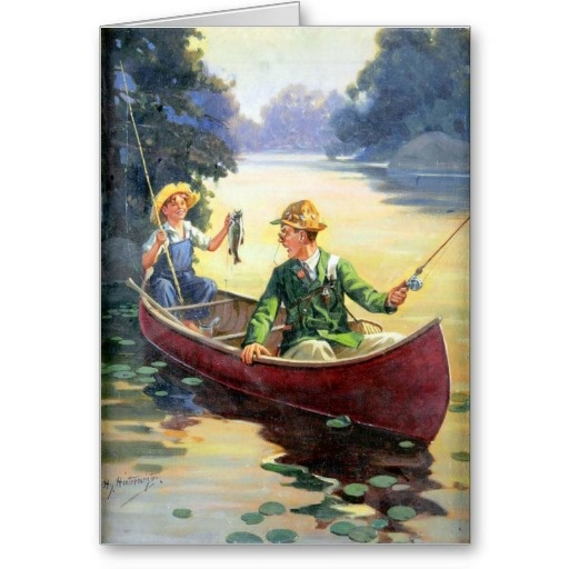 Pin by welte arts trumpery on zazzle pinterest for Father s day fishing card