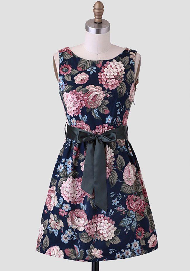 Cassie Floral Sash Belt Dress at #Ruche @Ruche