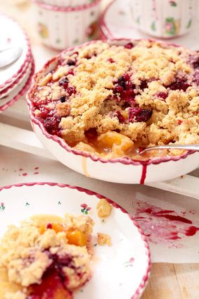 Raspberry Peach Crumble | Delectable Desserts | Pinterest