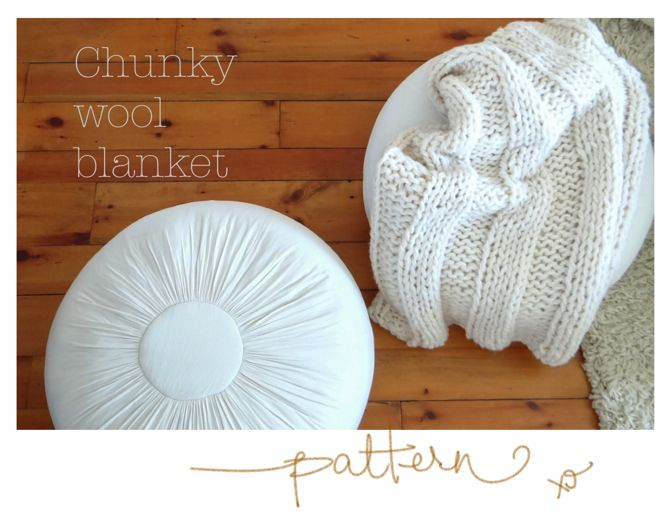 Easy Knitting Patterns For Chunky Wool : Free Chunky Wool Blanket Pattern