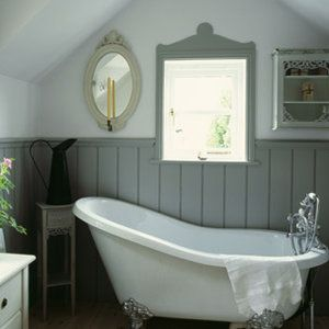 Roll top bath live pinterest for Bathroom ideas using tongue and groove