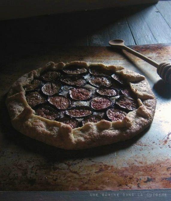 Fig Galette | une gamine dans la cuisine | Sweet | Pinterest