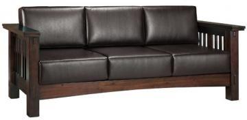 leather arts and crafts sofa the elegant home pinterest. Black Bedroom Furniture Sets. Home Design Ideas