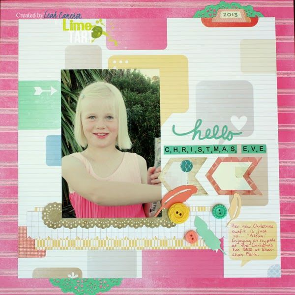 Another Lime Tart layout | A Scrappy Good Time-Layouts | Pinterest