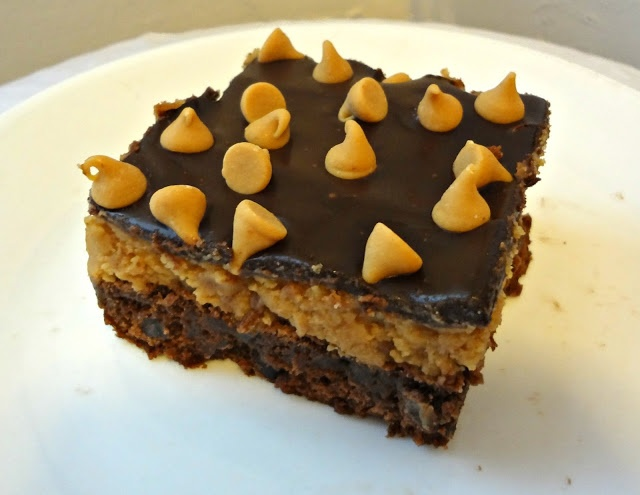 Peanut Butter Cookie Dough Brownies Holy goodness I want to try these!