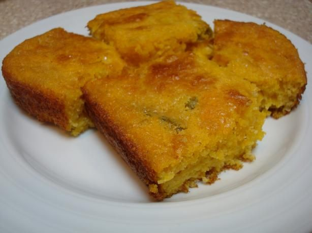 Jalapeno and Cheddar Cornbread. Photo by Starrynews. Nothing healthy ...