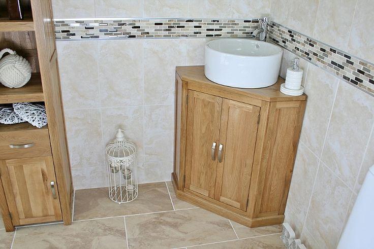 Oak bathroom vanity