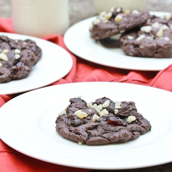 Double Chocolate Cookies with Ginger and Cherries from @Sommer {A ...