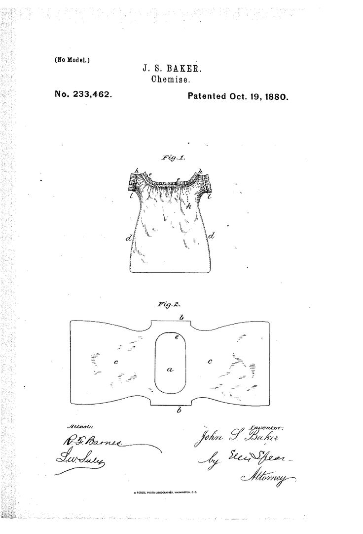 1880 chemise Patent US233462 - CHEMISE - Google Patents