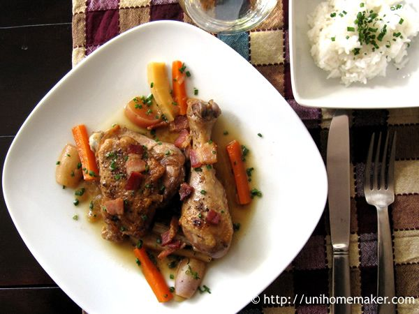 Braised Chicken with Root Vegetables   Dreamy   Pinterest