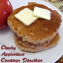 Chunky Applesauce Cinnamon Pancakes | Food & Drink that I love | Pint ...