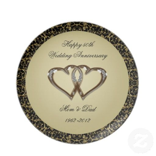 50th Wedding Anniversary Plate Unique 50Th Anniversary Gifts Pint ...