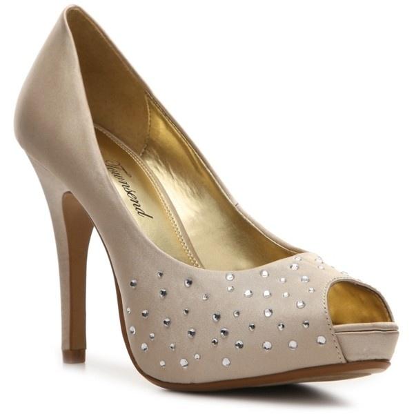 Lulu Townsend Bridal Daphnie Pump Bridal Shoes in Champagne found on